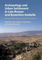 Archaeology and Urban Settlement in...