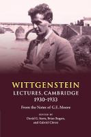 Wittgenstein: Lectures, Cambridge...