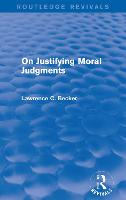 On Justifying Moral Judgements