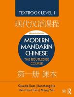 Modern Mandarin Chinese: The ...