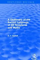 A Dictionary of the Sacred Language ...