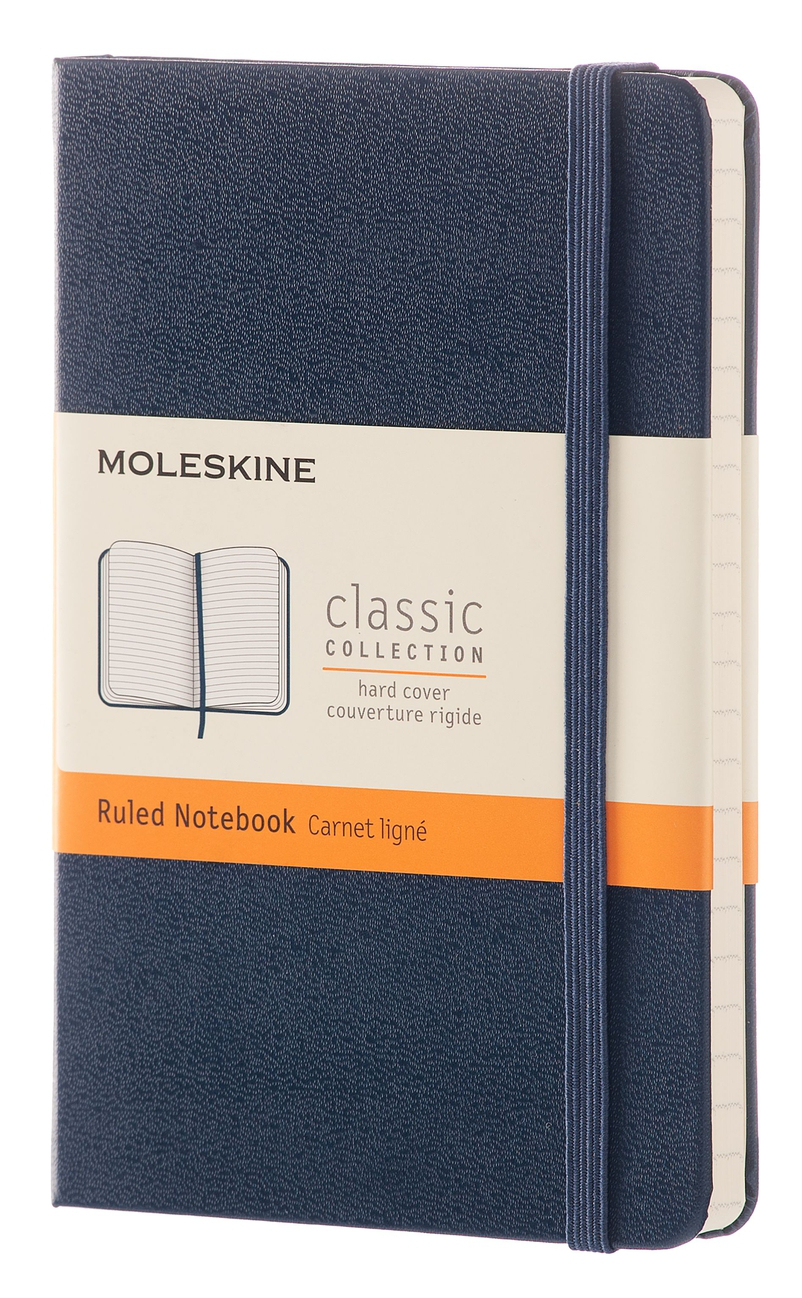Sapphire Blue Hard Pocket Ruled Notebook