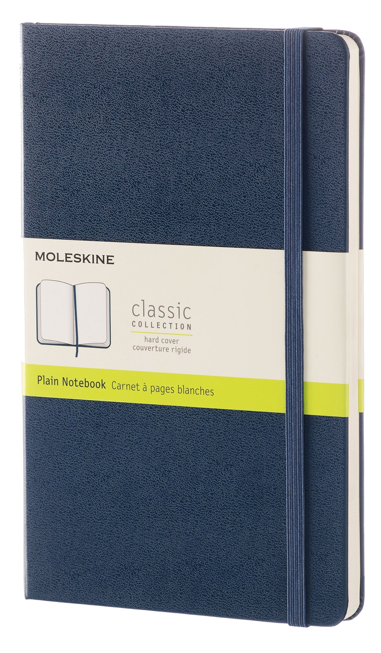 Sapphire Blue Large Plain Hard Notebook