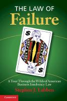 The Law of Failure: A Tour Through ...