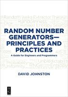 Random Number Generators-Principles...