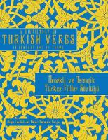 A Dictionary of Turkish Verbs: In...