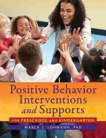 Positive Behavior Interventions and...