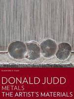 Donald Judd:Metals - The Artist's...