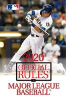 2020 Official Rules of Major League...