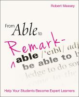 From Able to Remarkable: Help your...