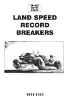 Land Speed Record Breakers 1930-1950