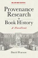 Provenance Research in Book History: ...