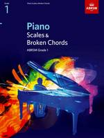 Piano Scales and Broken Chords: Grade 1