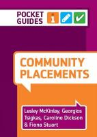 Community Placements: Pocket Guides...