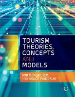 Tourism Theories, Concepts and Models
