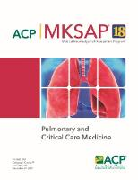 MKSAP (R) 18 Pulmonary and Critical...