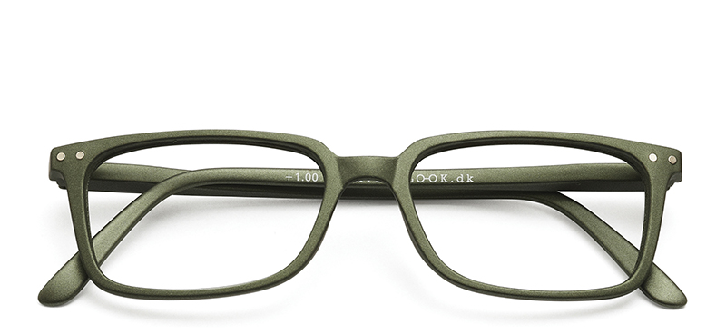 Classic Reading Glasses Army +2.0