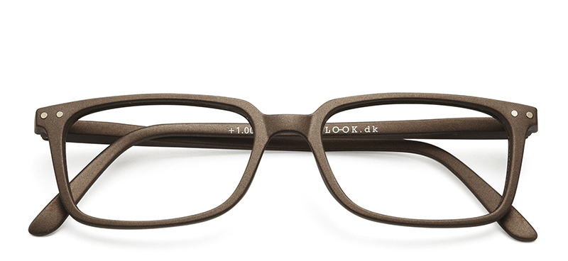 Classic Reading Glasses Warm Grey +2.0