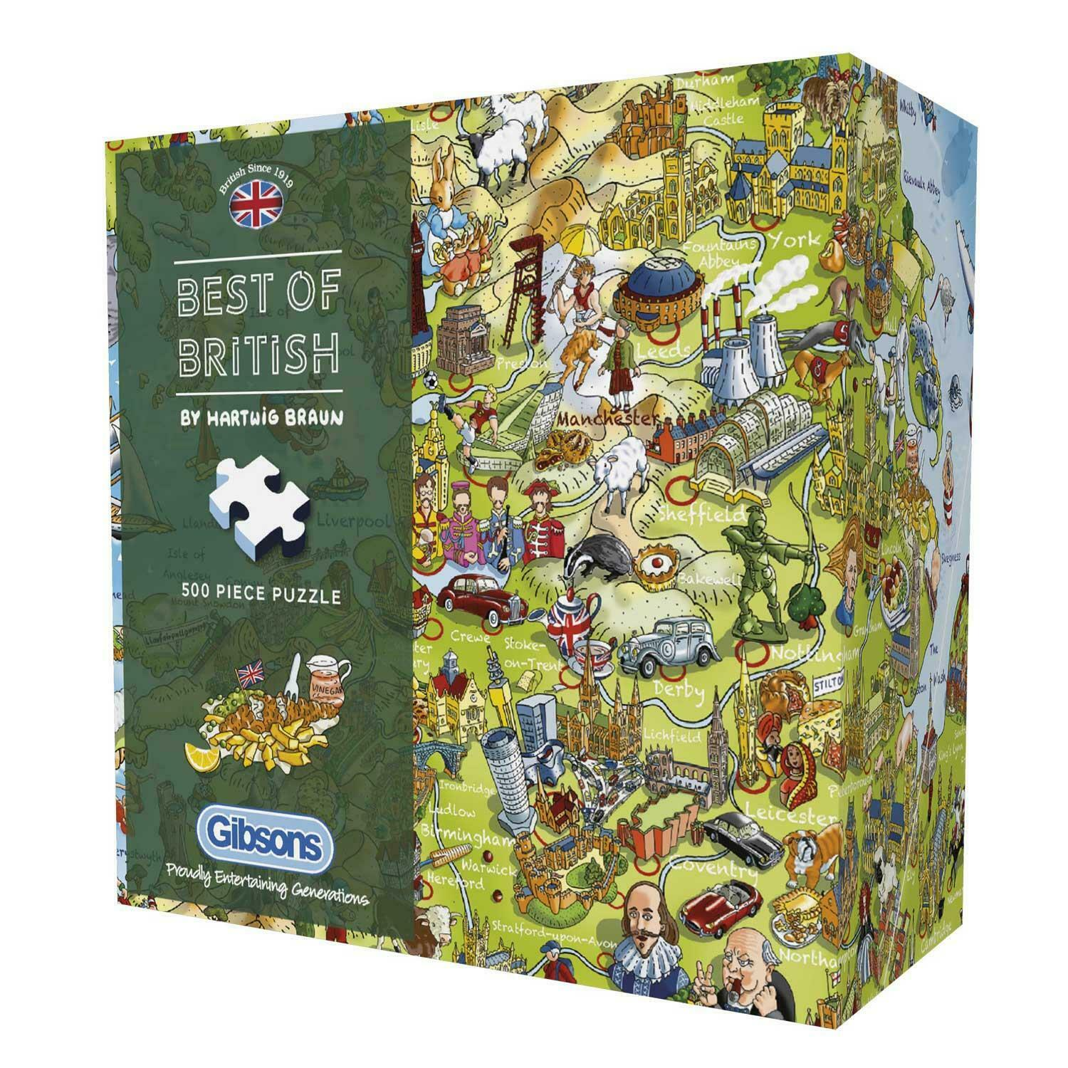 BEST OF BRITISH 500PC JIGSAW