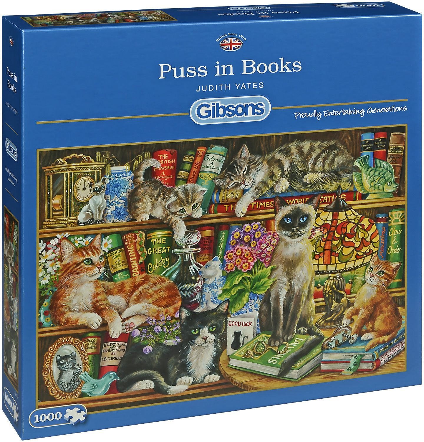 PUSS IN BOOKS 1000PC PUZZLE