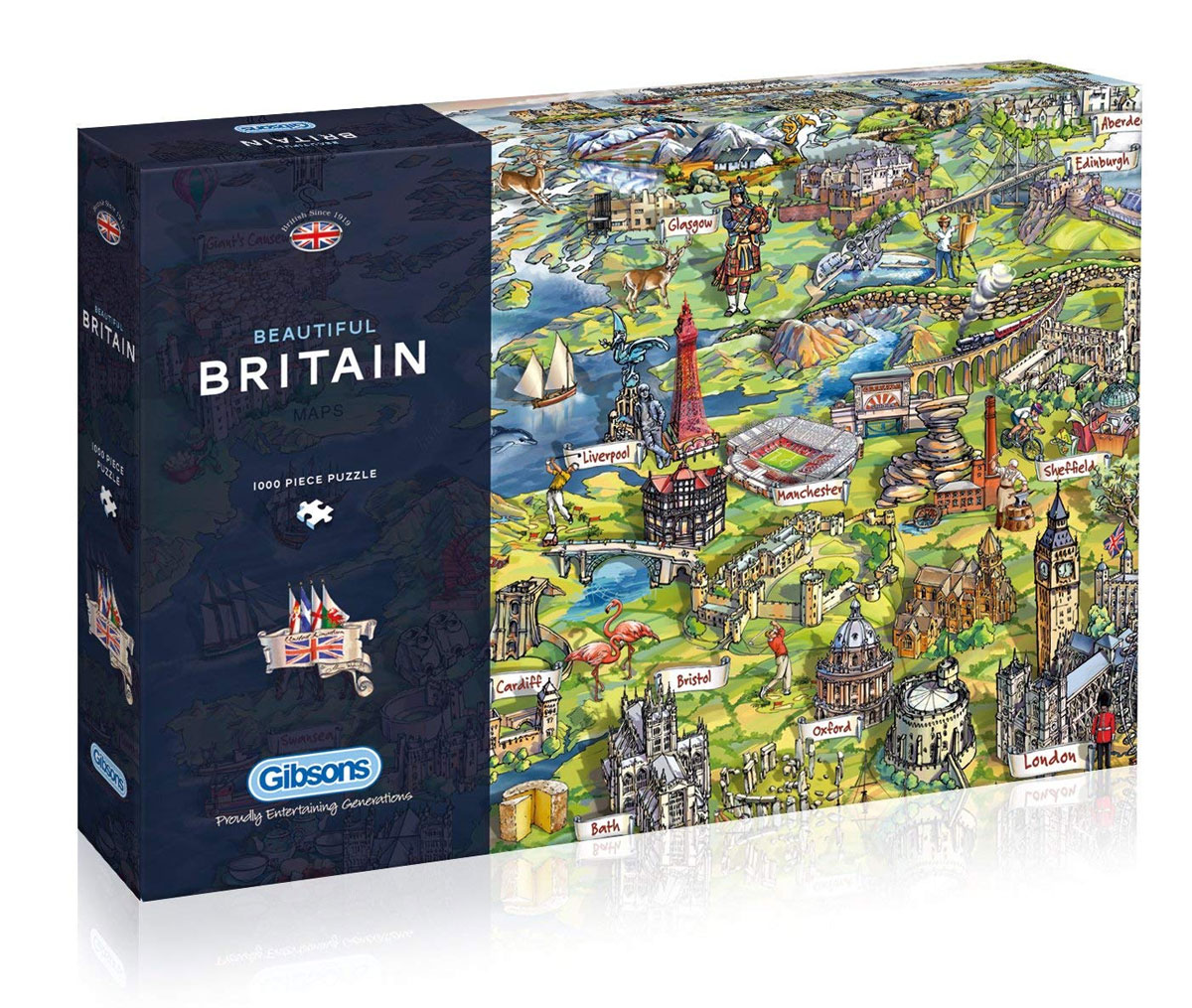 BEAUTIFUL BRITAIN 1000PC PUZZLE