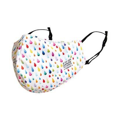 Reusable Raindrop Print Face Mask