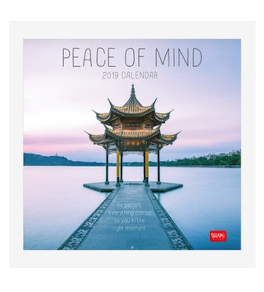 PEACE OF MIND 12 MONTH WALLL CALENDAR...