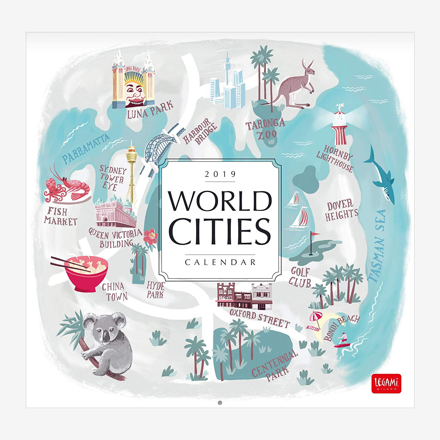 WORLD CITIES 12 MONTH WALL CALENDAR...