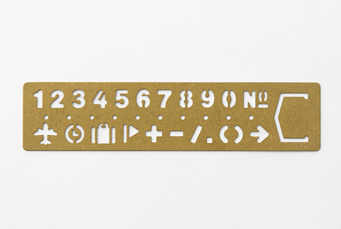 Travelers Company Brass Stencil Bookmark