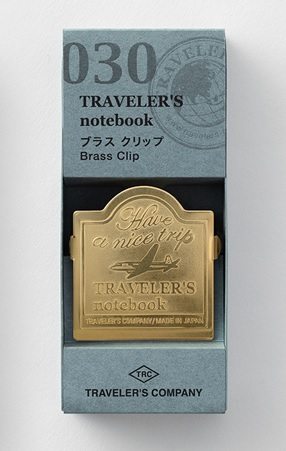 Traveler's Notebook Brass Clip 030