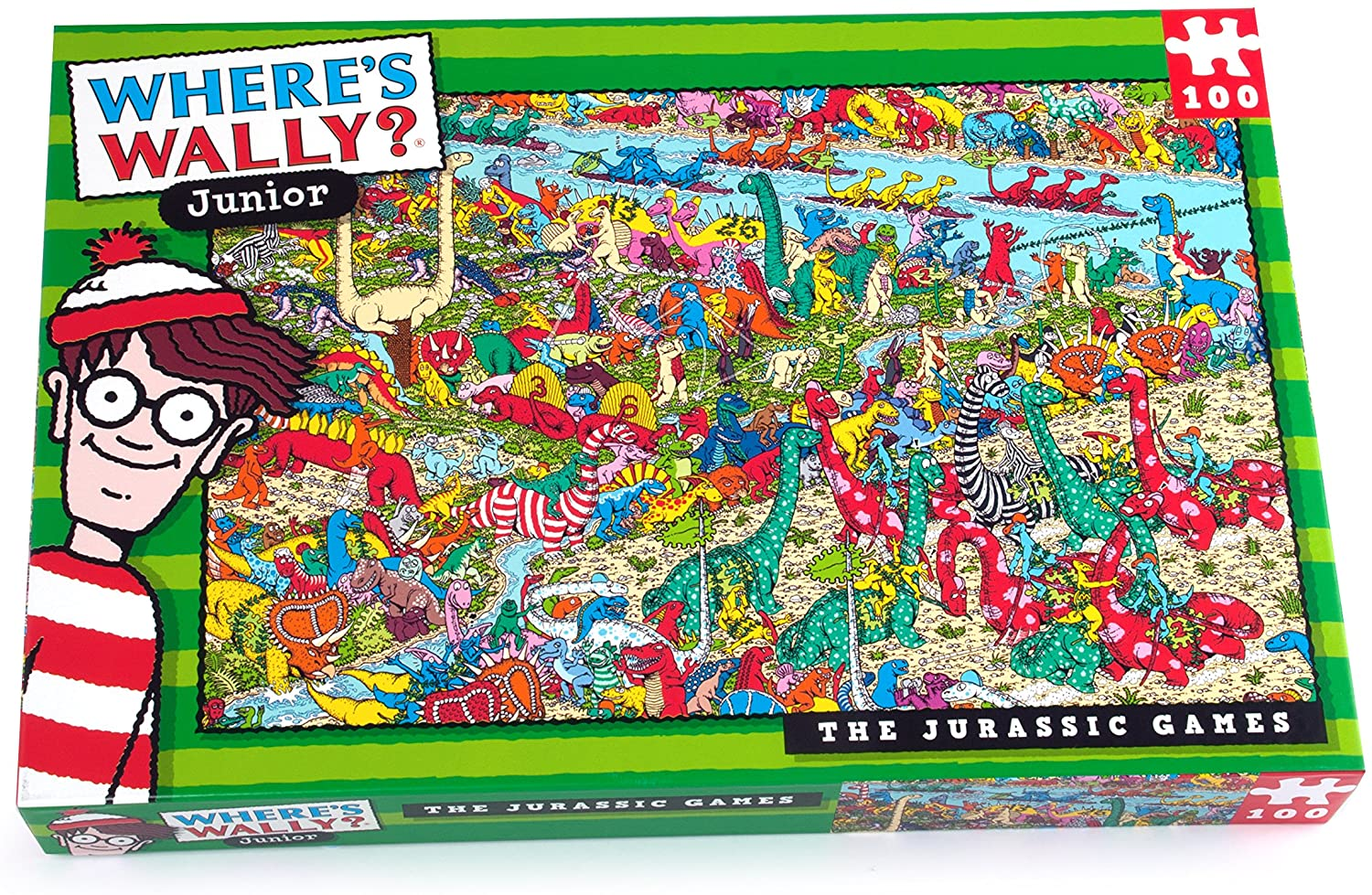 WHERES WALLY JURASSIC 100PC PUZZLE