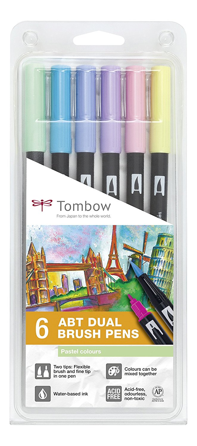 Tombow Dual Brush Pens Pastel Colours...