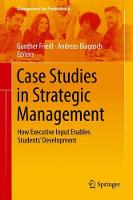 Case Studies in Strategic Management:...