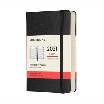 Black Pocket Daily Hardcover Diary...
