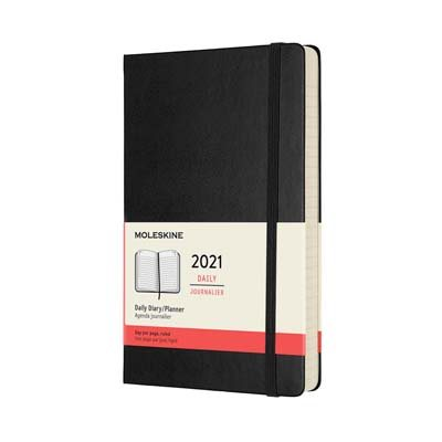 Black Large Daily Hardcover Diary...