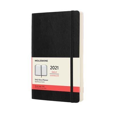 Black Large Daily Softcover Diary...