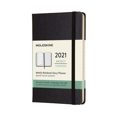 Black Pocket Weekly Hardcover Diary...