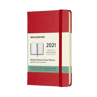 Red Pocket Weekly Hardcover Diary...