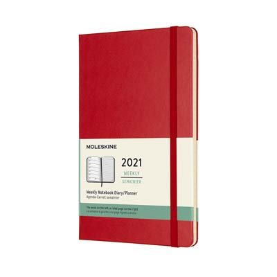Red Large Weekly Hardcover Diary ...