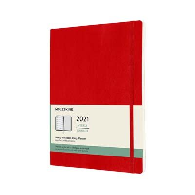 Red Xl Weekly Softcover Diary 2021:...