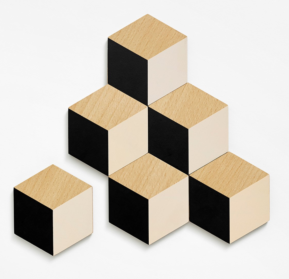 Black and Biege Table Tile Coasters