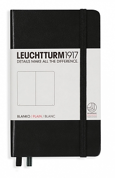 Black Pocket Plain Hardcover Notebook