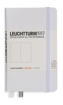 White Pocket Dotted Hardcover Notebook