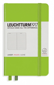Lime Pocket Ruled Hardcover Notebook