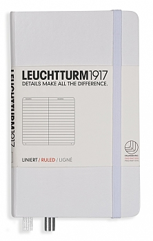 White Pocket Lined Hardcover Notebook