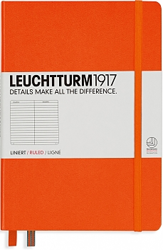 Orange Medium Ruled Hardcover Notebook
