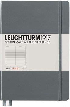 Anthracite Medium Ruled Hardcover...