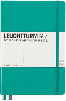 Emerald Medium Plain Hardcover Notebook