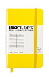 Lemon Pocket Ruled Notebook