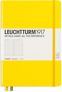 Lemon Medium Ruled Hardcover Notebook